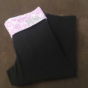 Victoria's Secret pink crop yoga legging cotton